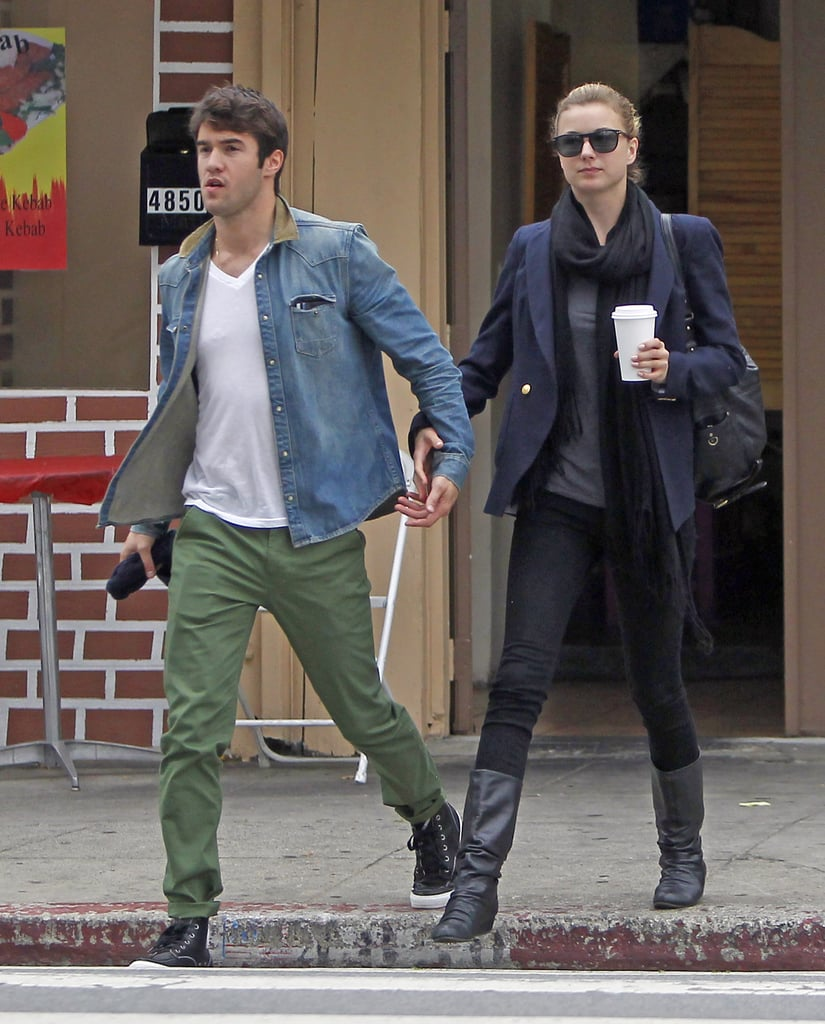 Emily VanCamp and Joshua Bowman held hands in LA.