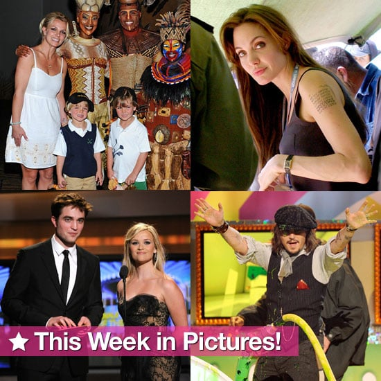 Angelina Sends a Message, Britney and the Boys' Vegas Getaway, Rob and Reese Reunite, and More in This Week in Pictures!