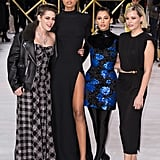 Kristen Stewart, Ella Balinska, Naomi Scott, and Elizabeth Banks at Charlie's Angels London Premiere
