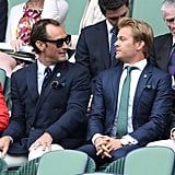 Jude Law and Nico Rosberg at Day 11 of Wimbledon