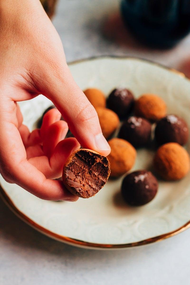 Decadent 4-Ingredient Chocolate Avocado Truffles