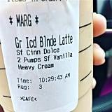 Iced Blonde Latte