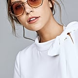 Chloé Tally Round Scalloped Sunglasses