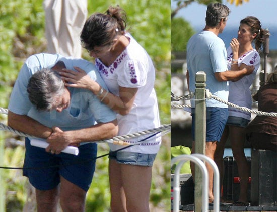 Pictures of George Clooney and Elisabetta Canalis Cuddling in Hawaii
