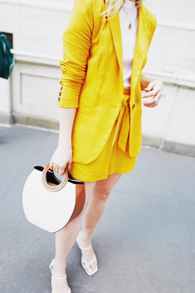 A Not-So-Mellow Yellow Blazer-and-Shorts Set