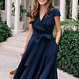 Gal Meets Glam Collection Fit & Flare Wrap Dress