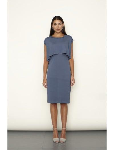 Keungzai Twisted Neck Detail Dress