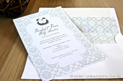 Perfect Pair Shower Invites