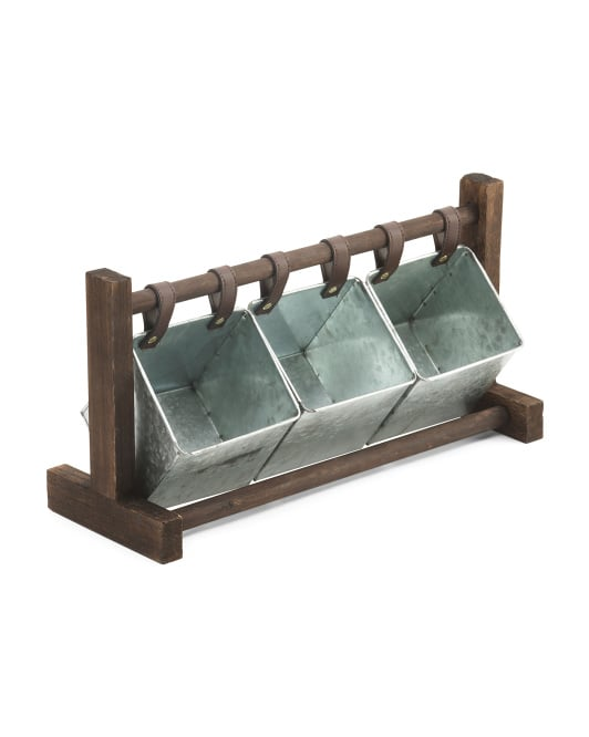 Desktop Swing Metal Storage Pockets