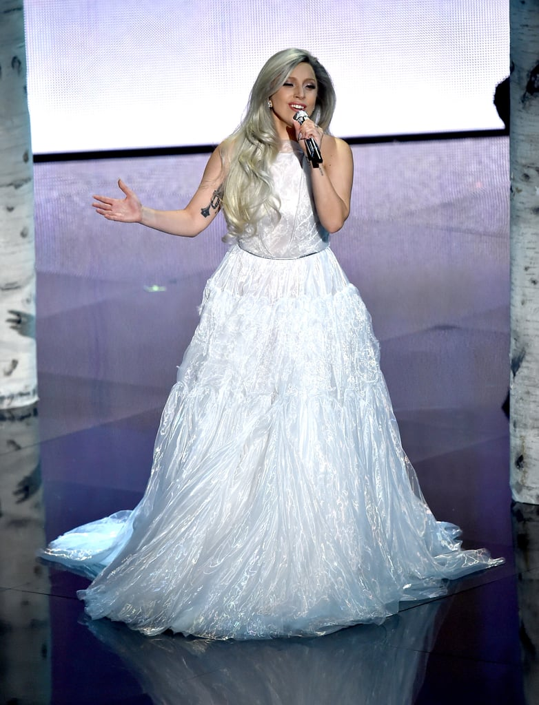 Lady Gaga Performing at the 2015 Oscars