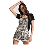 Z Supply Clothing Women's The Multi Leopard Short Overalls