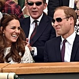 In July, Kate laughed at Will as they watched the Wimbledon Championships in London.