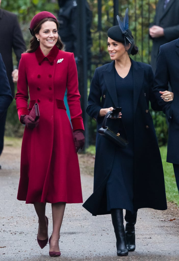 "The royal family was in full force as they attended the Christmas morning service at St. Mary Magdalene Church, but it was Kate Middleton and Meghan Markle who really stole the spotlight. Despite rumors of a rift between the Fab Four, the duchesses put on a united front as they walked side by side and flashed big smiles for the crowds. While we couldn't get enough of their happy outing, there is one specific moment between Kate and Meghan that has us grinning from ear to ear.  As the ladies made their way inside the gates, Meghan waited for Kate to catch up before sweetly placing her hand on her back. As one commenter pointed out, it looked as though Prince Harry was reaching out to hold his wife's hand, but she walked towards her sister-in-law instead. Aww! Looks like Kate and Meghan are subtly putting those ""feud"" rumors to rest.       Related:                                                                                                           7 Times Harry, Meghan, William, and Kate Made 2018 Seem Better Than It Actually Was"
