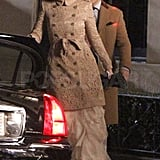 Blake Lively and Ed Westwick filmed night scenes in NYC.