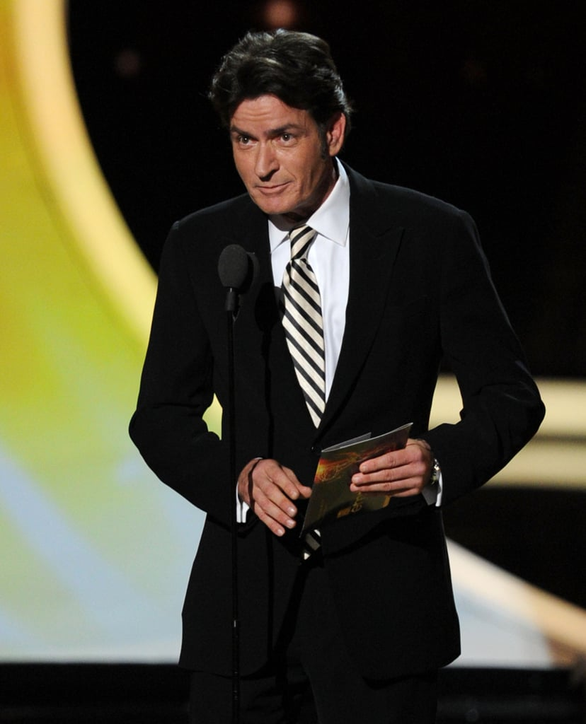 Charlie Sheen was a presenter at the 2011 Emmy Awards.