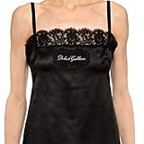 Dolce & Gabbana Lace Logo Silk Satin Tank Top