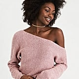 American Eagle Slouchy Off-the-Shoulder Crop Sweater