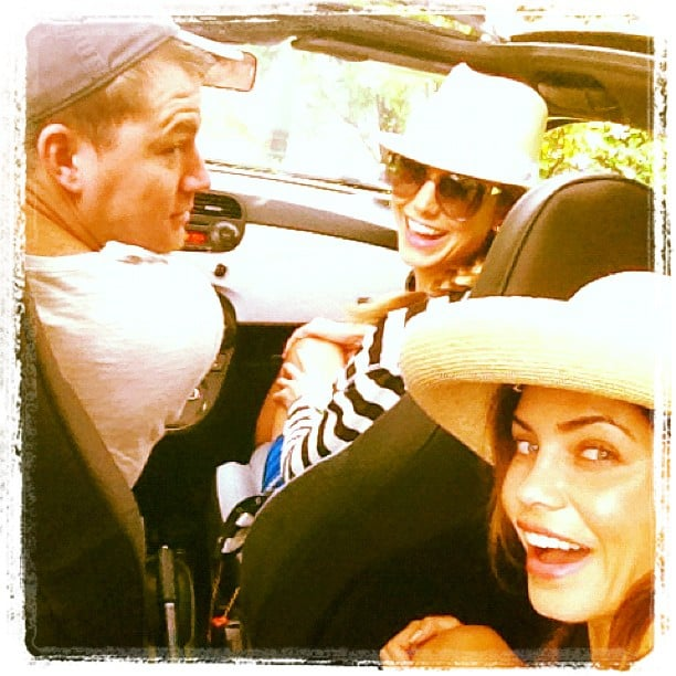 Jenna Dewan and Channing Tatum took a sunny ride through Italy with Stacy Keibler in July.  Source: Instagram user stacykeibler