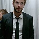 Liam Hemsworth laid low during the event.