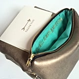 """You're My Person"" Gold Leather Zipper Pouch ($36)"