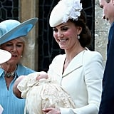 The Baby Makes Its First Official Public Appearance at the Royal Christening