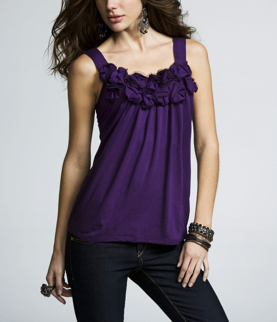 Rosettes Scoop-Neck Tank