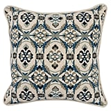 Get the Look: Lira Navy Blue Square Pillow in Blue