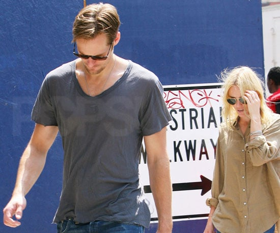 Slide Picture of Alexander Skarsgard and Kate Bosworth in New York