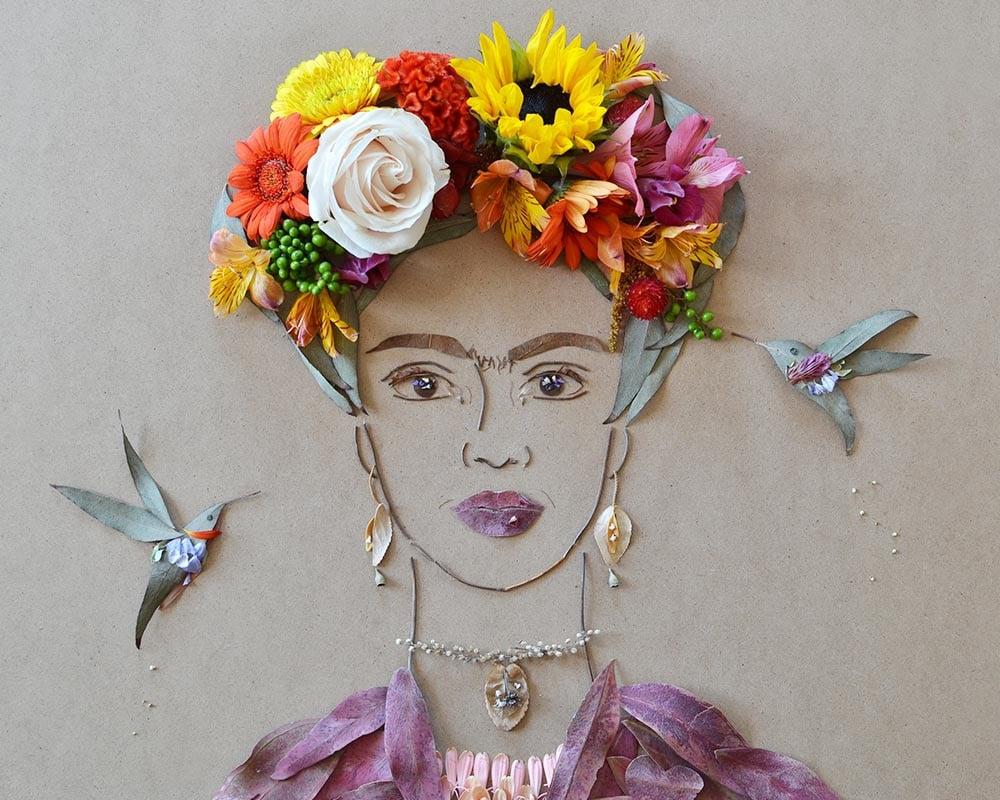 """Frida in the Garden II"" Flower Face Print ($35-$78)"