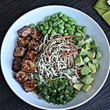 Tahini Bowl With Edamame and Zucchini Noodles