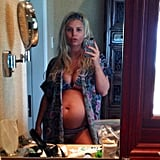 Jessica Simpson showed off her baby bump in a bikini while vacationing in Hawaii with her family. Source: Twitter user JessicaSimpson