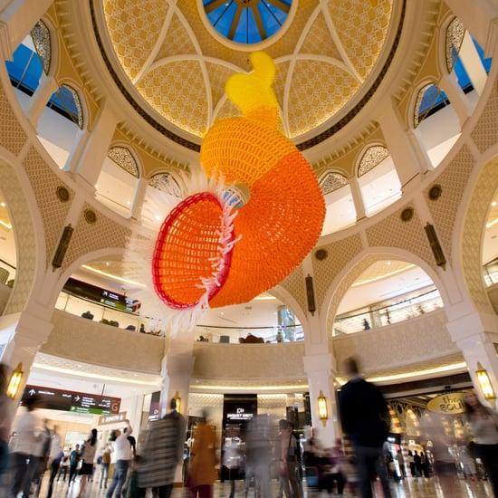 Jason Hackenworth Skyward Instillation Dubai Mall