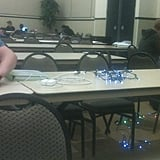 The genius who used Christmas lights as an extension cord