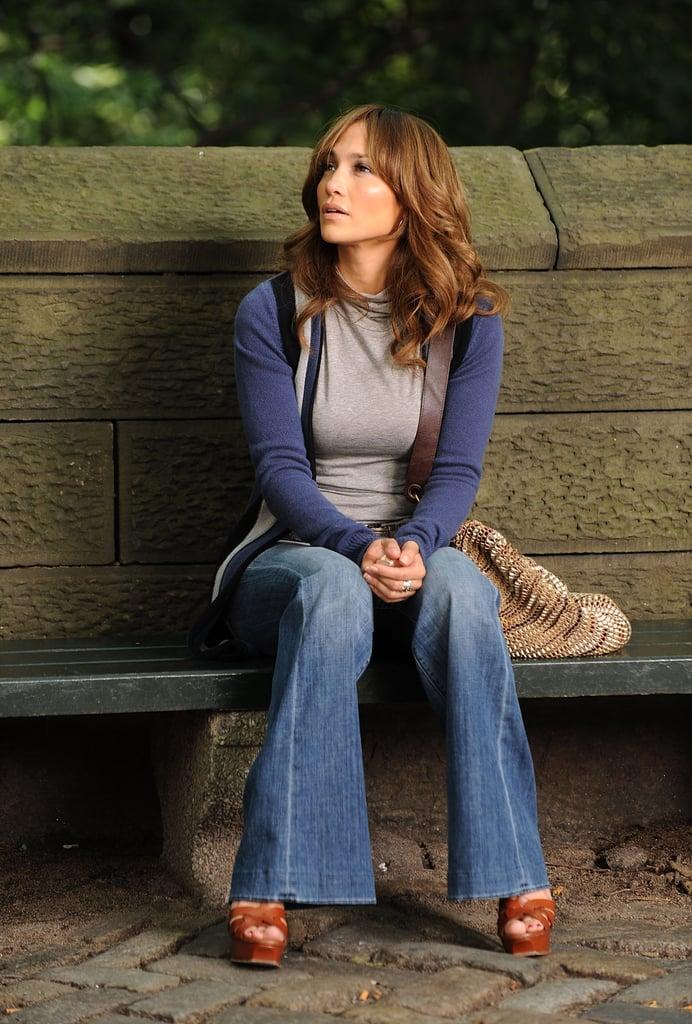 Jennifer Lopez's Curtain Bangs in 2009