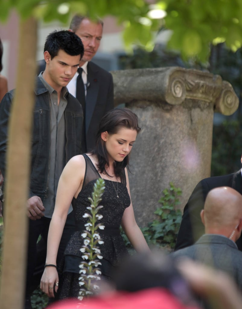 Pictures of Kristen Stewart And Taylor Lautner Promoting Eclipse in Rome
