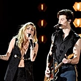 Pictured: Miley Cyrus and Shawn Mendes