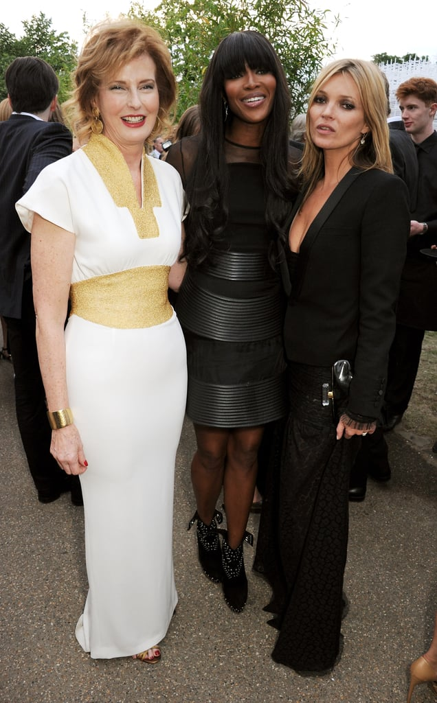 Kate Moss and Naomi Campbell posed with Julia Peyton-Jones.