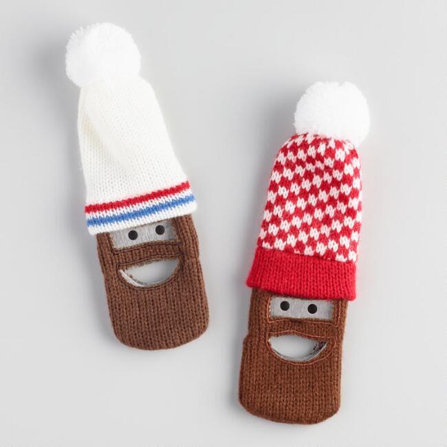 Knit Hat and Beard Bottle Openers