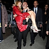 Christian Louboutin carried Blake Lively in NYC.