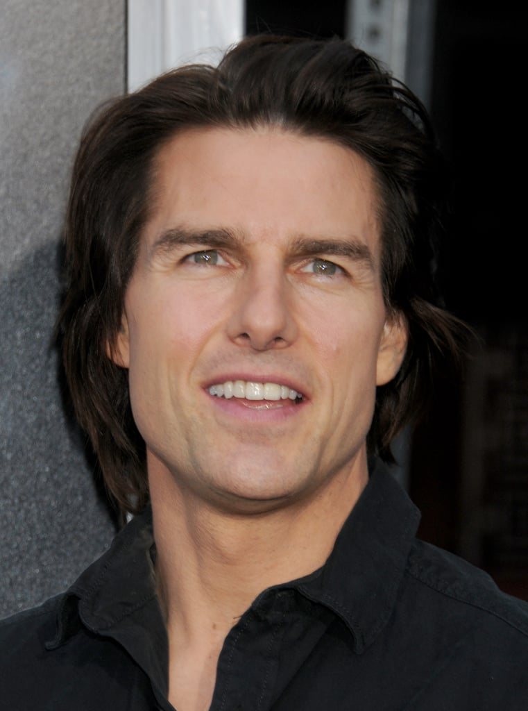 Tom Cruise let his hair flow for the Super 8 premiere in LA in June 2011.