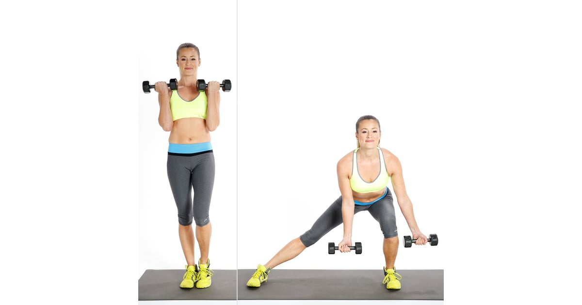 Circuit Three Bicep Curl With Side Lunge Circuit