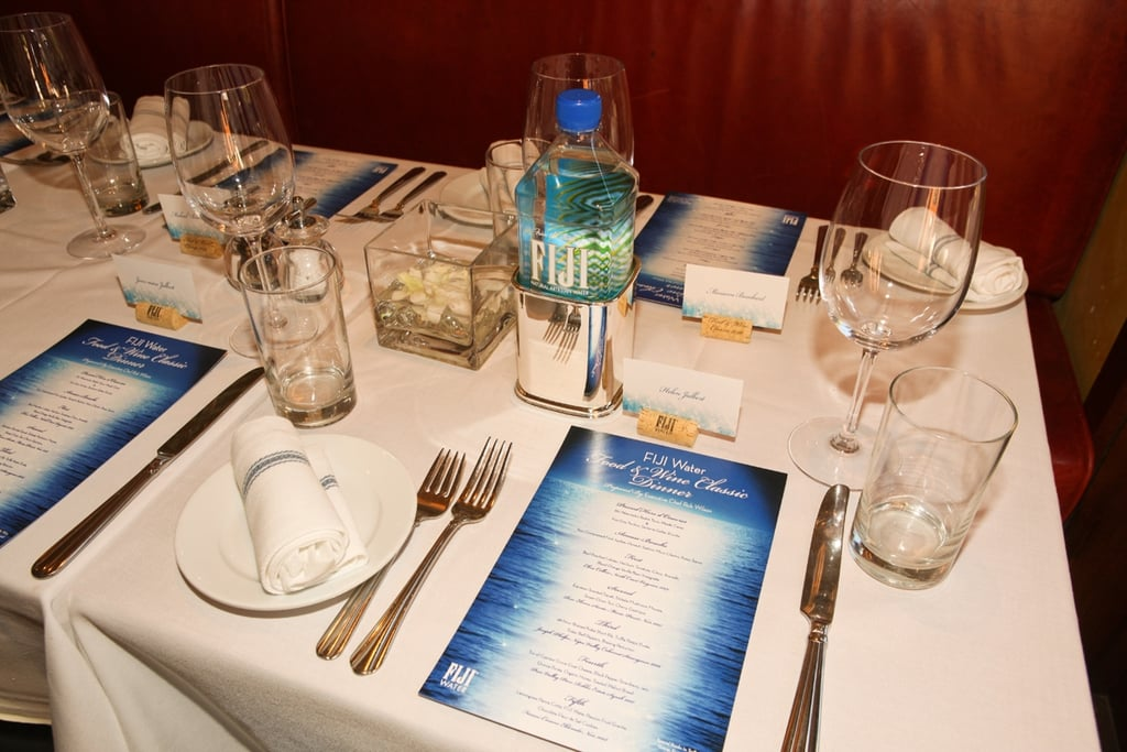 The commemorative place setting