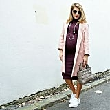 A Sweater Dress, a Jacket, and Sneakers