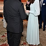 Kate Middleton Blue Midi Dress March 2019