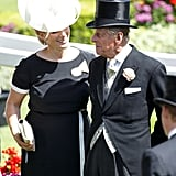 Zara Tindall and Prince Philip