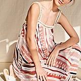 Forever 21 Crinkled Geo Crochet-Trim Dress