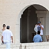 Jessica Biel stepped out wearing sunglasses in Italy.