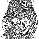 get the coloring page owl
