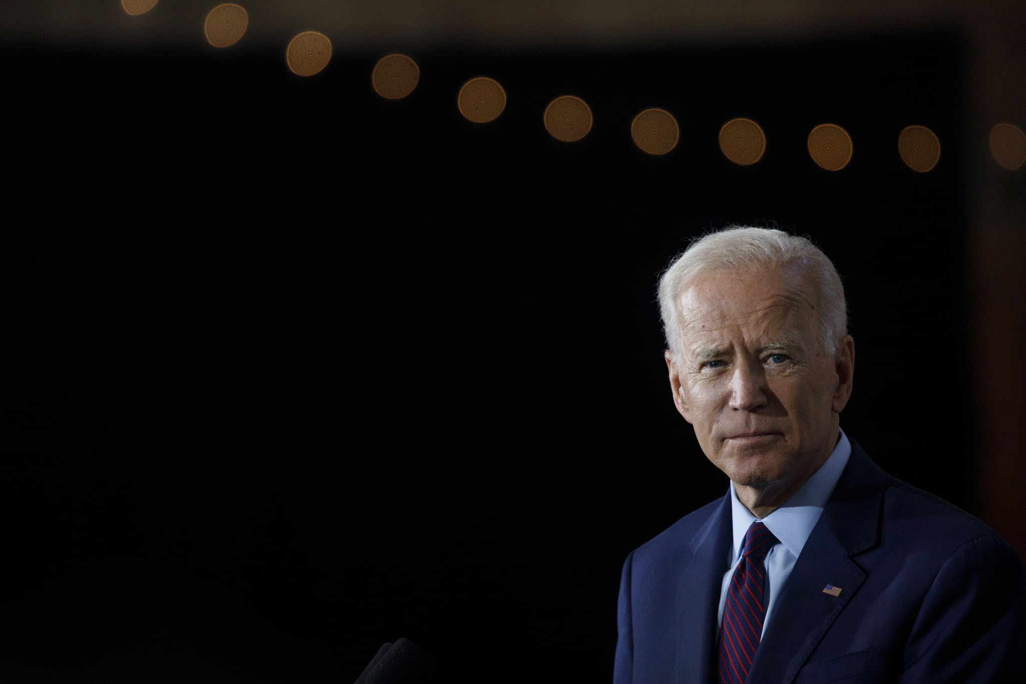 BURLINGTON, IA - AUGUST 07: Democratic presidential candidate and former U.S. Vice President Joe Biden delivers remarks about White Nationalism during a campaign press conference on August 7, 2019 in Burlington, Iowa. (Photo by Tom Brenner/Getty Images)