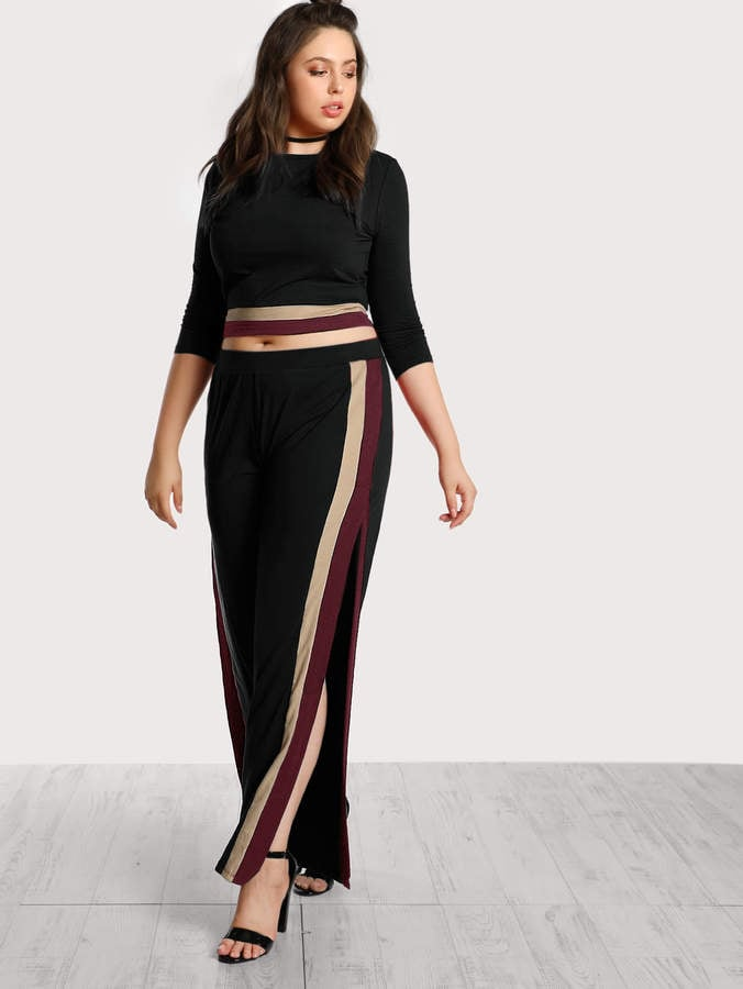 Shein Striped Top And Pants Co-Ord